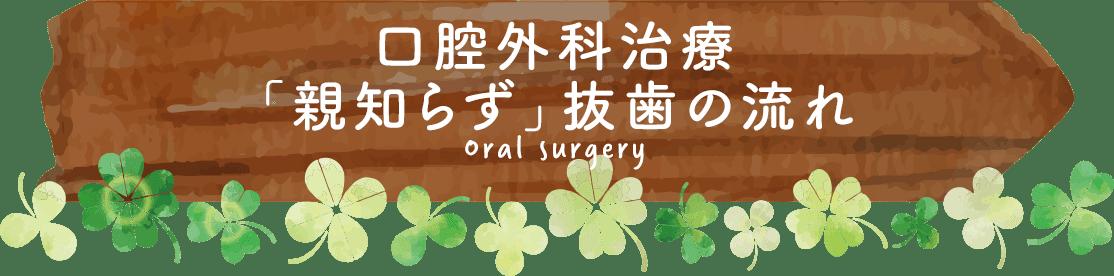 口腔外科治療の流れ