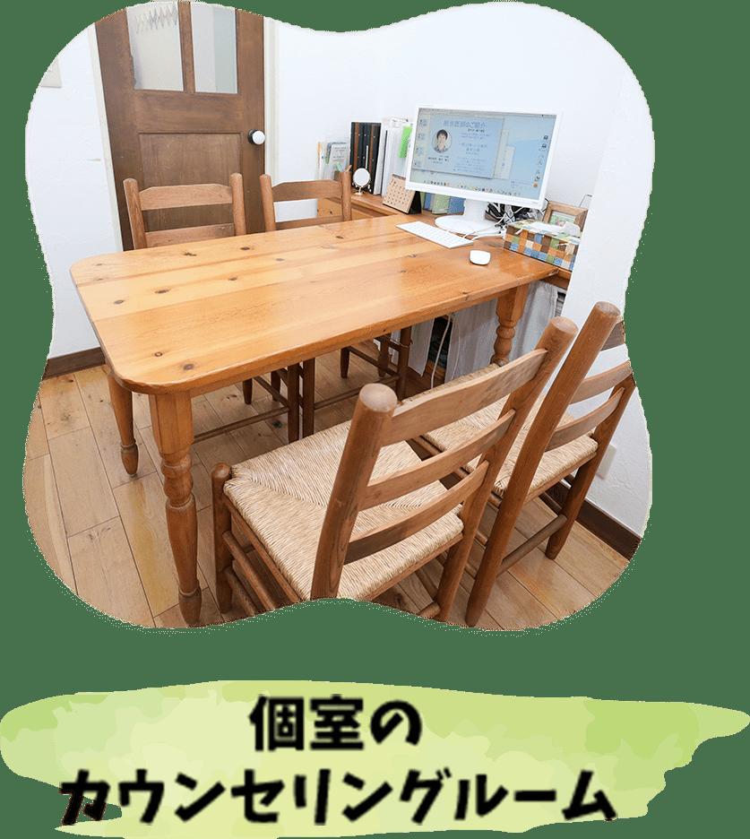 個室のカウンセリングルーム